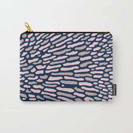 Organic Abstract Navy Blue Carry-All Pouch