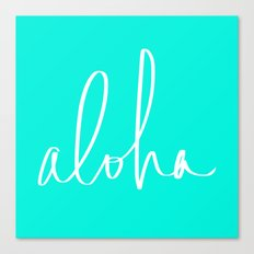 Aloha Tropical Turquoise Canvas Print