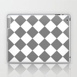 Large Diamonds - White and Gray Laptop & iPad Skin