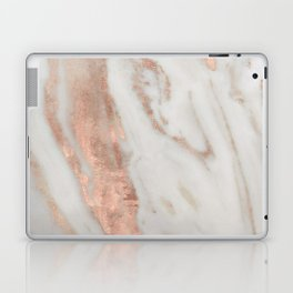 Marble Rose Gold Shimmery Marble Laptop & iPad Skin