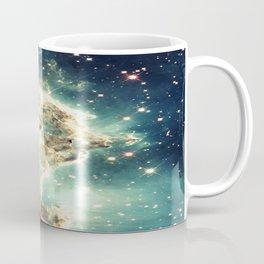 Monkey Head Nebula. Dreamy Teal Coffee Mug