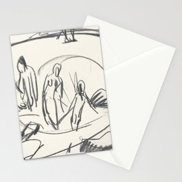Ernst Ludwig Kirchner, Three Bathers in the Sea Stationery Cards