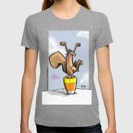 Candy Corn Crane Technique T-shirt