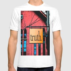 Truth White Mens Fitted Tee MEDIUM