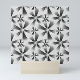 Fragmented White Burst Mini Art Print