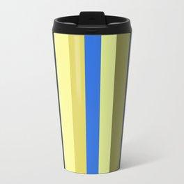Blue and Moss Stripes Travel Mug