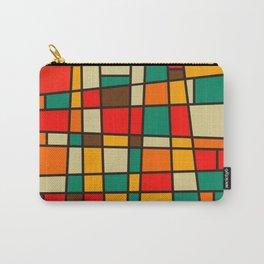 Retro Geometric Bam Bam Carry-All Pouch