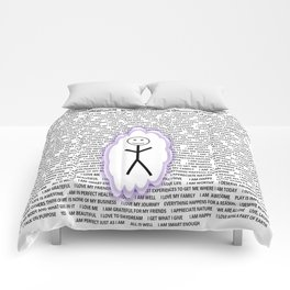 Positive Bubble Guy Comforters