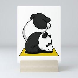 Cute Panda Bear Yoga Animal Mini Art Print