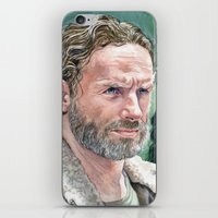 rick grimes iPhone & iPod Skins featuring Rick Grimes by Mark Satchwill Art