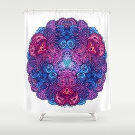 Purple & Blue Indian Mandala Shower Curtain