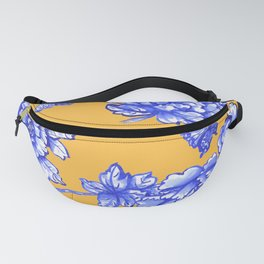 Chinoiserie Floral Golden Yellow Fanny Pack