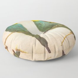 Love time. Bee-eaters Floor Pillow