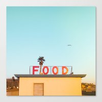 "food Canvas Prints featuring ""FOOD"" by SO FAR SO GOOD / Rob Kalmbach"