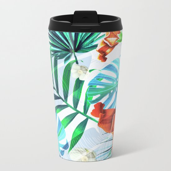 Tropical fiesta - sunset Metal Travel Mug