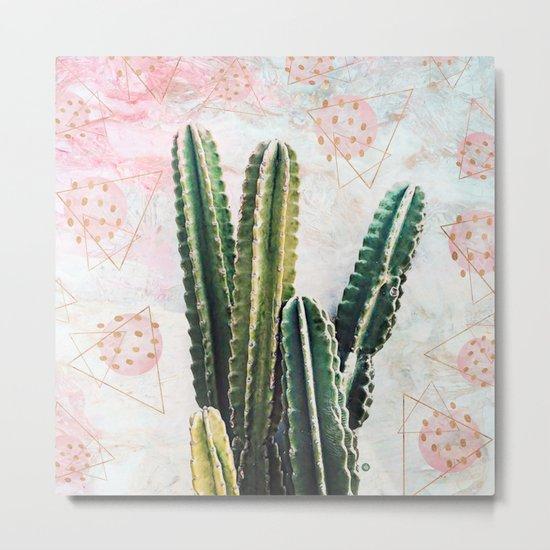 cactus and geometrics Metal Print