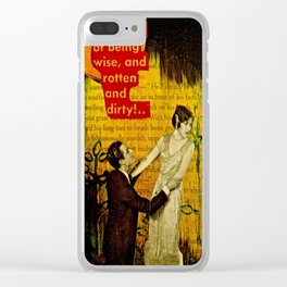 The Apology Clear iPhone Case
