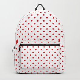 White With Red Dots Backpack