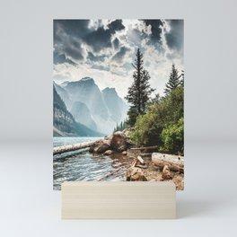 moraine lake in alberta Mini Art Print