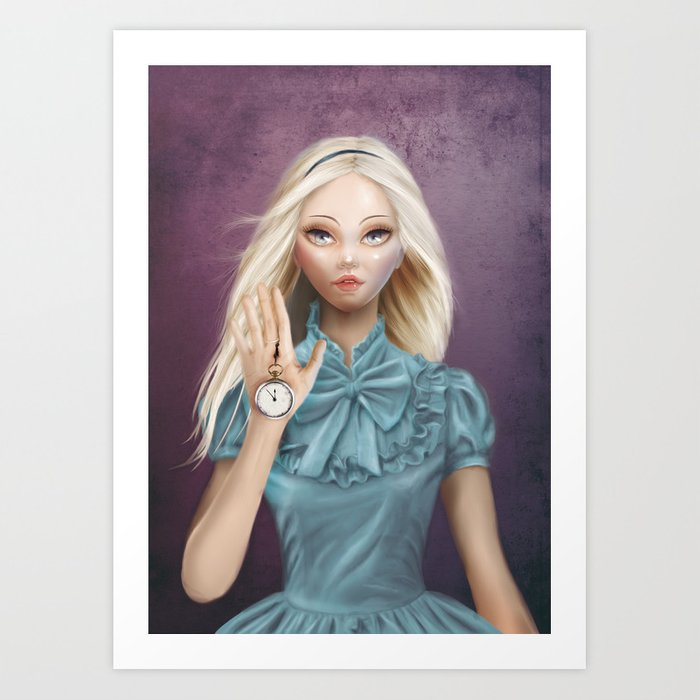 Alice - Cameo Portrait Art Print
