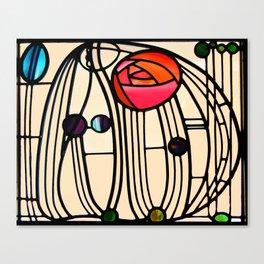 "Charles Rennie Mackintosh ""Stained glass window"" Canvas Print"