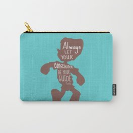 Always Let your Conscience Be Your Guide - Pinocchio inspired Print  Carry-All Pouch