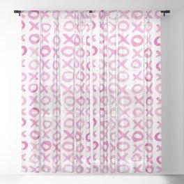 Xoxo valentine's day - pink Sheer Curtain