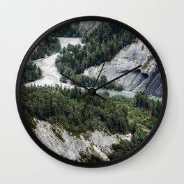 Ruinaulta canyon mountain river rocks mountains forest Anterior Rhine Versam Switzerland Wall Clock