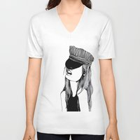 mad hatter V-neck T-shirts featuring MAD HATTER by ZOBOHO