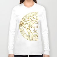 versace Long Sleeve T-shirts featuring Medusa by InteriorEpiphanies