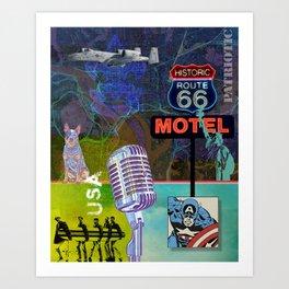 Modern Collage Three Art Print