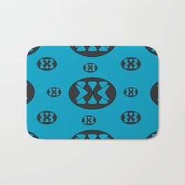 blue patterns Bath Mat