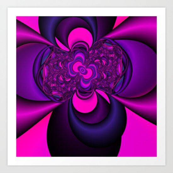 Pink and Purple  Art Print