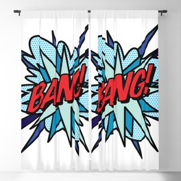 Comic Book Pop Art BANG Blackout Curtain