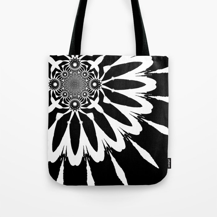 The Modern Flower Black & White Tote Bag