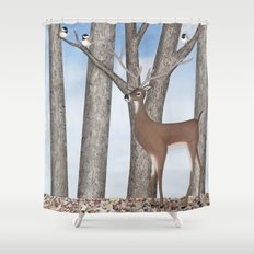... Shower Curtain · White Tailed Deer Chic ...