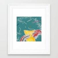 fishing Framed Art Prints featuring FISHING by  ECOLARTE
