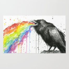 Raven Tastes the Rainbow Rug