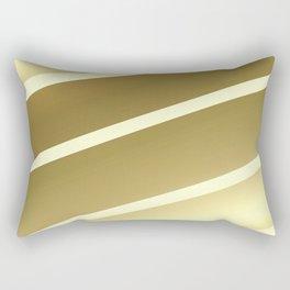 Asymet Stripes Pattern Gold Rectangular Pillow