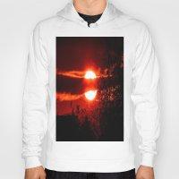 sunrise Hoodies featuring Sunrise by American Artist Bobby B