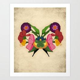 Rose-schach Art Print