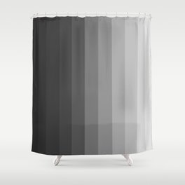 Black and White Vertical Ombre Stripes Shower Curtain