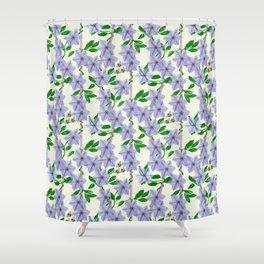 Clematis Floral Pattern Design Shower Curtain