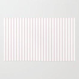 Alice Pink Pinstripe on White Rug