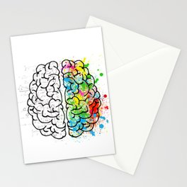 Artistic and Rational Brain Stationery Cards