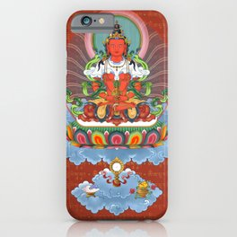 Buddha Amitabha with mantra Thangka Art iPhone Case