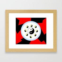 Yin and Yang 16- Tao,Zen,Taoism,Dao,Harmony,religion,buddhism,buddhist,taijitu,taiji,taoist,china Framed Art Print