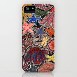 Sea stars and starfish iPhone Case