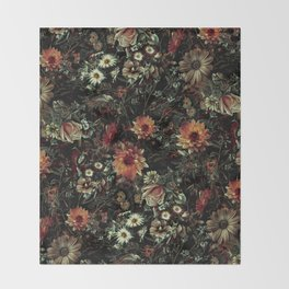 Vintage Garden IV Throw Blanket