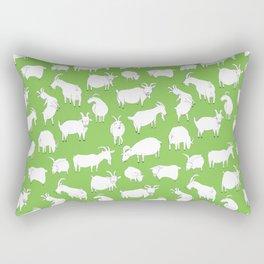 Green Goats Rectangular Pillow
